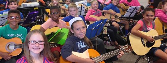 Children playing guitar
